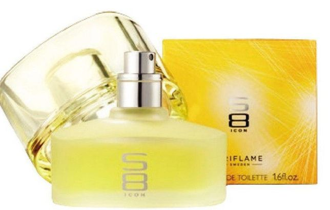Oriflame perfumy S8 icon, folia