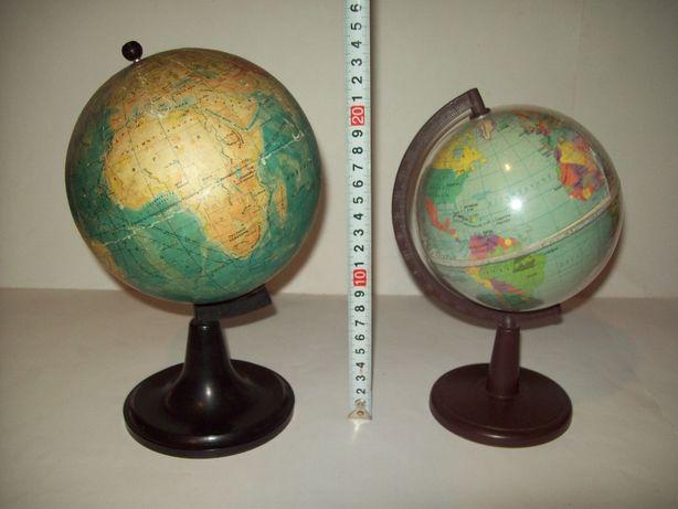 Глобус физический про-во СССР 2 штуки