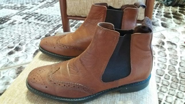 Полуботинки мужские кожаные 42р.