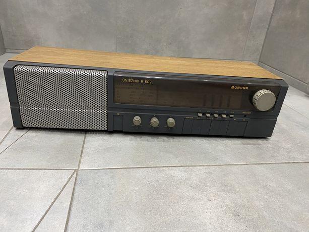 Stare Radio UNITRA Śnieżnik R 502 PRL, Retro