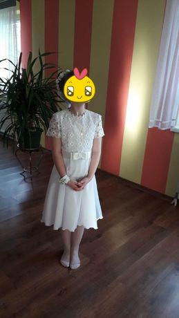 Sukienka komunijna - duży zestaw dodatków