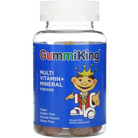 GummiKing, Мультивітаміни і мінерали для дітей, 60 цукерок