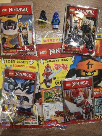 Lego Ninjago gazety, saszetki, figurki
