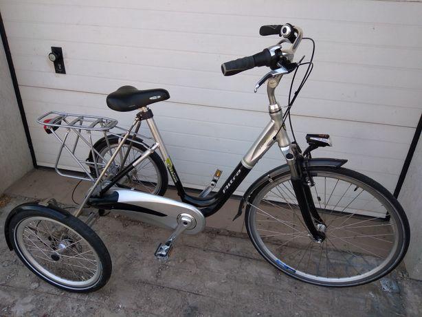 Rower trójkołowy aluminiowy-dwa w jednym (rehabilitacyjny+ damka)