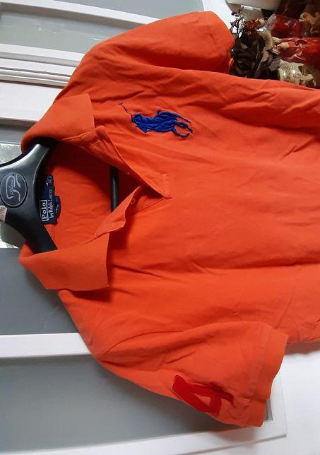 Ralp Lauren Polo L Usa T-shirt koszulkapomarańcz 100%Oryginał piękna
