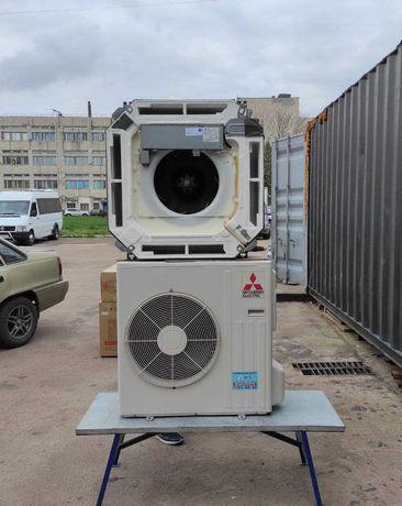 Кассетный кондиционер MITSUBISHI PLA-ZRP71BA до70м2 бу монтаж доставка