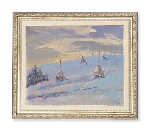 """Картина """"Сніги"""" 55х45, полотно, олія. 2018р."""