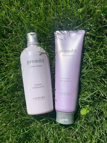 Восстановление для волос шампунь и маска Lebel Proedit Bounce fit+