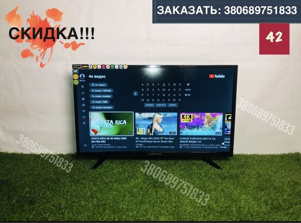 Телевизор samsung smart TV 24,34,42 дюйм. Wifi, 4K,T-2. Самсунг, Суми