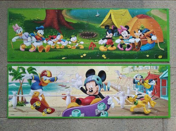 Trefl puzzle 50 Myszka Miki Kaczor Donald, stan bardzo dobry, 10 zł