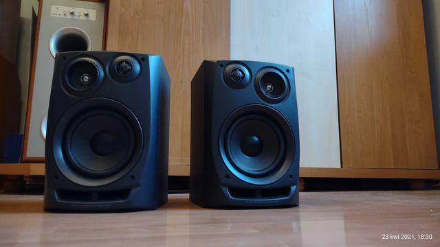 AIWA kolumny stereo mega stan Bass 17 cm na wiecznym zawieszeniu