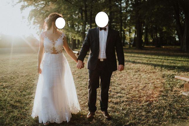 Suknia ślubna wraz z welonem