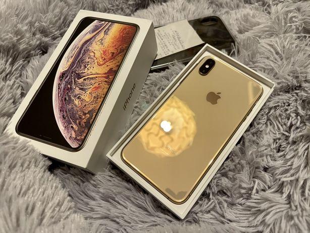 iPhone XS Max 256gb Gold, jak nowy, caly zestaw + dodatki