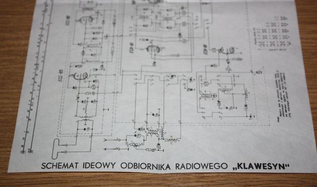Schemat ideowy odbiornika radiowego Klawesyn oryginał