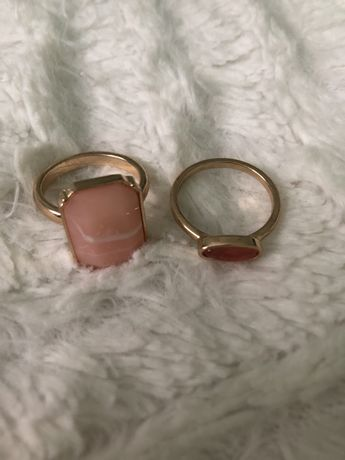 Zlote pierscionki z kamieniem h&m nowe vintage glam