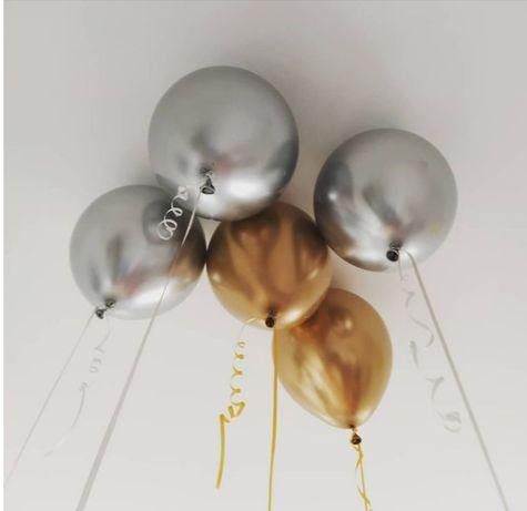 Balony lateksowe z helem 4 + 1 gratis