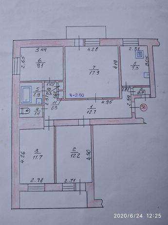 Продаж 4кімнатної квартири