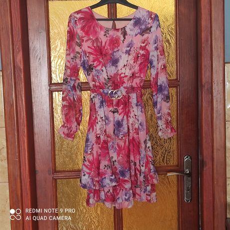 Sukienka kwiaty rozmiar uniwersalny