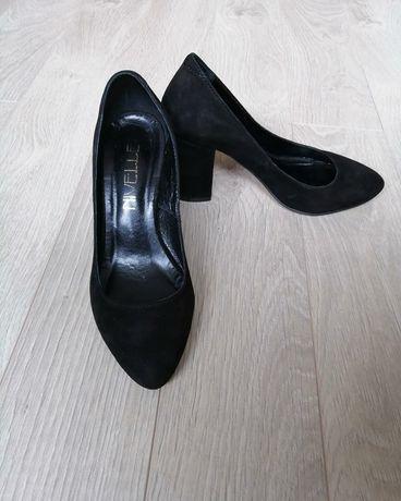 Лодочки замшеві 36р, туфли
