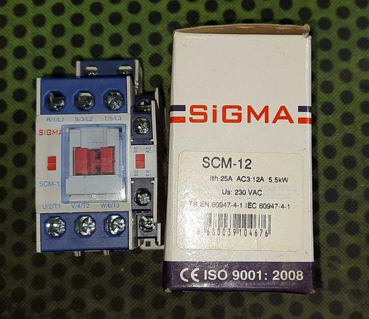 Пускатель 2 величина  Sigma SCM-12 Ith: 25A AC3, Uкатушки: 230VAC