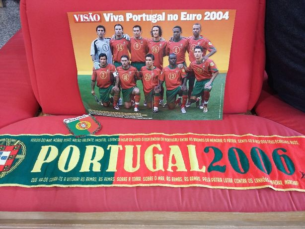 Poster com o Cristiano Ronaldo, cachecol, galhardete de Portugal