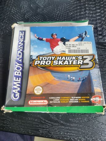 Gra na Game Boy Advance Tony Hawks Pro Skater 3