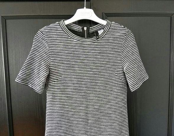 Sukienka H&M letnia w paski - STAN IDEALNY !!!