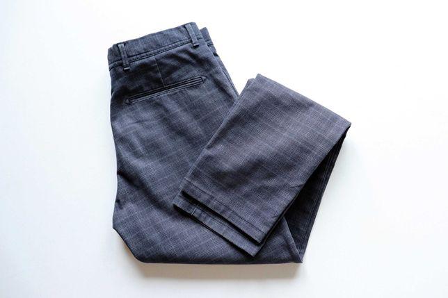Spodnie męskie w kratę Selected Homme W29 L32 materiałowe. Stan bdb