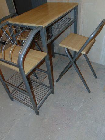 Hokery 2 sztuki składane krzesła barowe