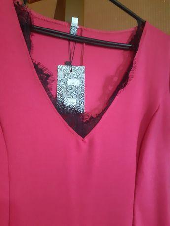 Розовое нарядное платье!