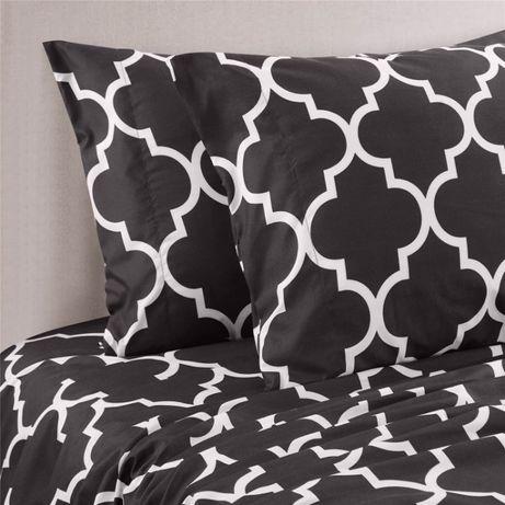 Набор постельного белья с принтом для дома - размер QUEEN