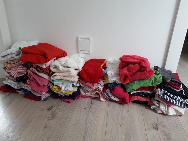 74-80 cm 9-12 mcy zestaw ubran dla dziewczynki H&M Lupilu