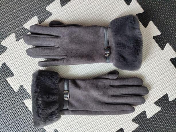 Замшевые тёплые перчатки
