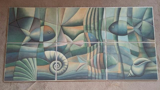 Glazura dekor ryby w reliefie włoska