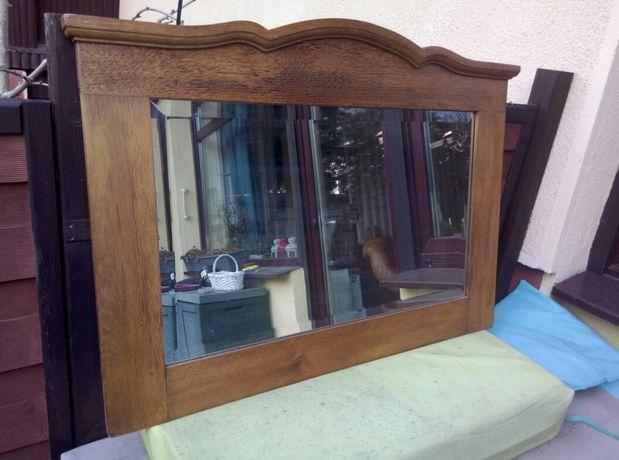 Lustro w drewnianej solidnej ramie 96 x 68 cm