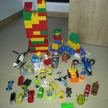 Zabawki dla dzieci zestaw różności klocki autka