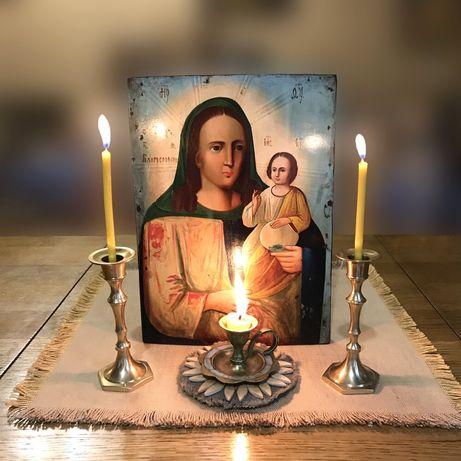 Старинная икона Благословенная Пресвятой Богородицы