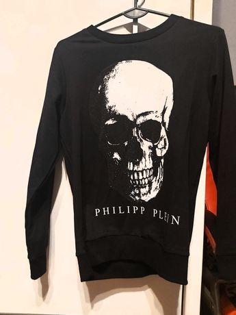 Oryginalna Bluza Philipp Plein Czaszka Cyrkonie