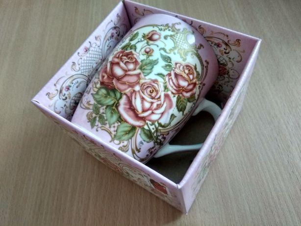 Подарункова чашка в коробці подарочная чашка с мигающими блестками