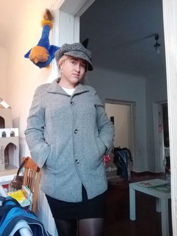 Пальто оверсайз серое