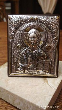 Срібна іконка Ісуса Христа