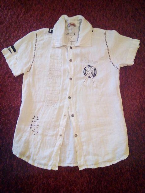 Рубашка белая, лен