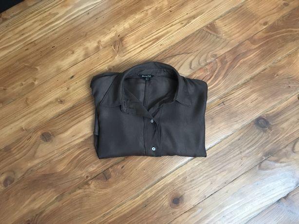 Koszula brązowa marki Massimo Dutti rozmiar M stan b.dobry