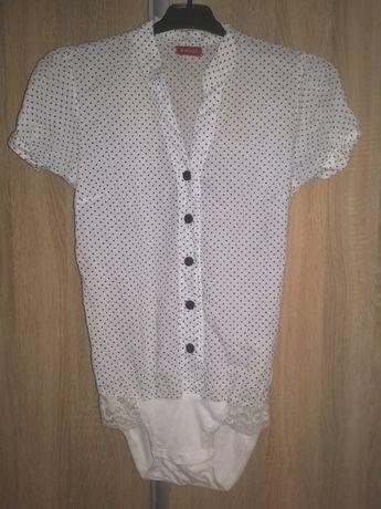 Koszulo body granatowe kropki białe