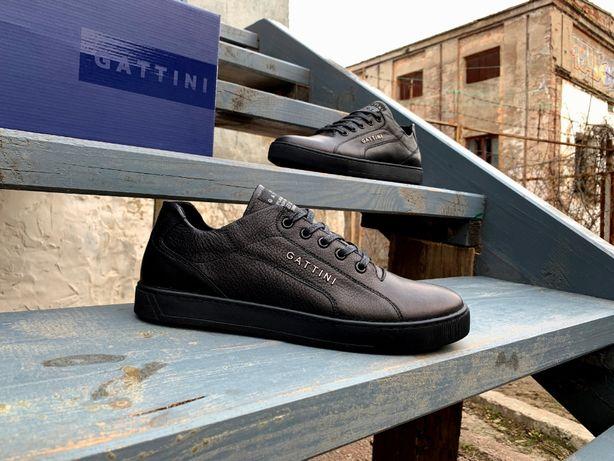 Мужские кожаные кроссовки туфли Gattini. Натуральная кожа! ТОП цена!