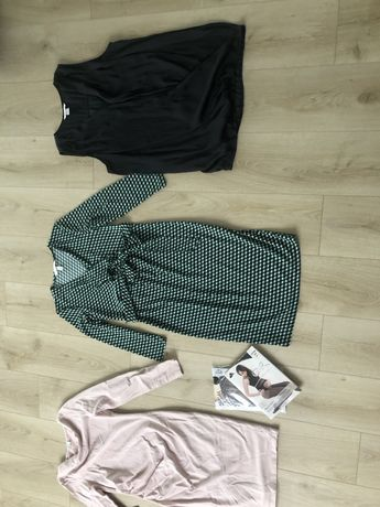 Sukienki ciążowe i bluzka ciążowa i do karmienia r36/38 s/m