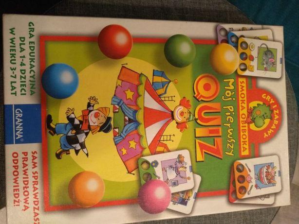 gra edukacyjna smoka obiboka Mój pierwszy Quiz f. Granna, wiek 3 - 7
