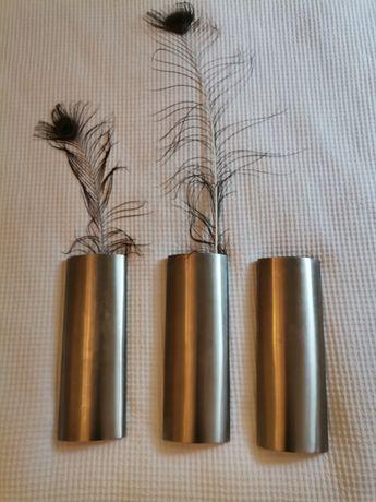 Vasos decorativos de inox