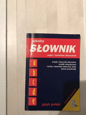 szkolny słownik pojęć i terminów literackich