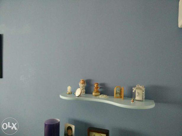Estante de parede Azul Bébé Formato Onda *Portes Gratuitos*